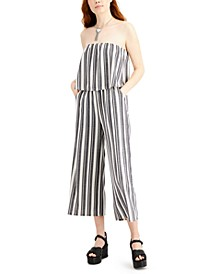 Juniors' Strapless Gaucho Jumpsuit