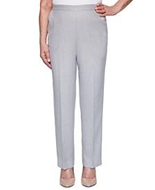 Petite Primrose Garden Textured Pull-On Pants