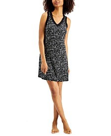 Women's Lace-Trim Printed Nightgown