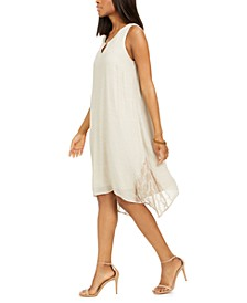 Lace Inset Shift Dress, Created for Macy's