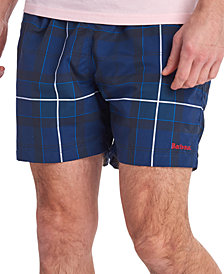 "Barbour Men's 5"" Tartan Plaid Swim Trunks"