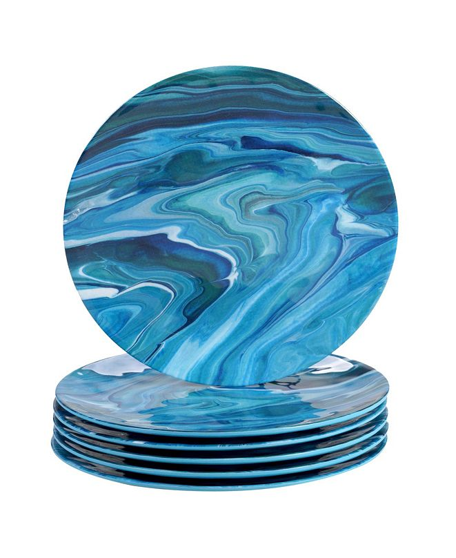 Certified International Fluidity 6-Pc. Dinner Plates