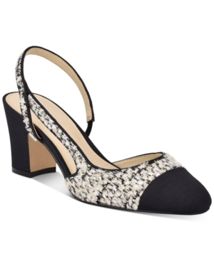 Marc Fisher Women's Laynie Slingback Pumps Women's Shoes In Black Boucle Multi