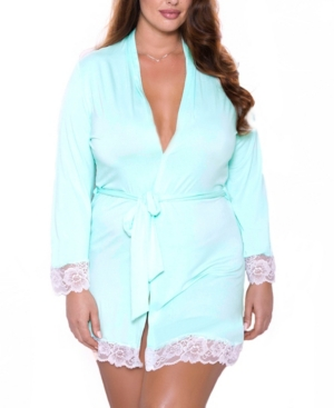 Plus Size Alluring Knit Ultra Soft Wrap Robe