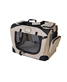 Folding Soft Dog Crate for Dogs and Cats, Pet Travel Carrier