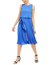 Pleated Cropped Jumpsuit