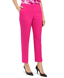 Stretch Crepe Elastic-Back Pants