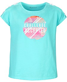 Big Girls Lace-Up Graphic T-Shirt, Created for Macy's
