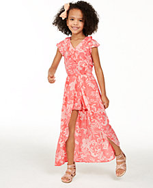 Epic Threads Toddler Girls Tropical Floral-Print Walkthrough Romper, Created for Macy's