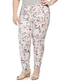 Plus Size Bristol Printed Skinny Ankle Jeans, Created for Macy's