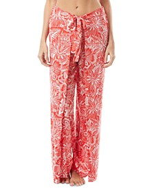 Printed Wrap Cover-Up Pants