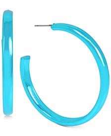 """Medium Skinny Hoop Earrings, 1.9"""""""
