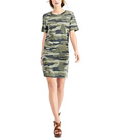 Camo-Print T-Shirt Dress
