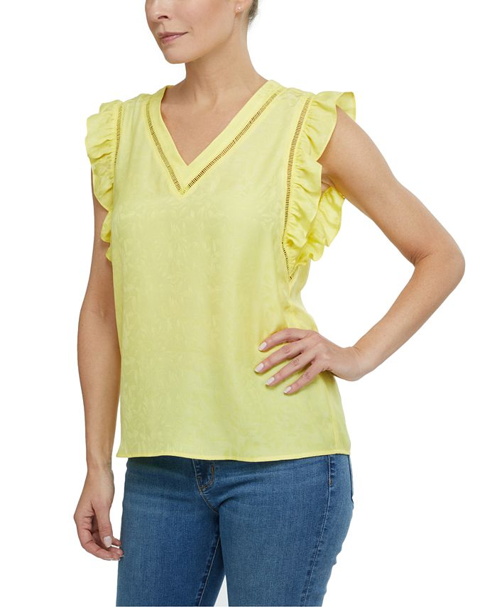 Laundry by Shelli Segal - Printed Ladder-Trim Top