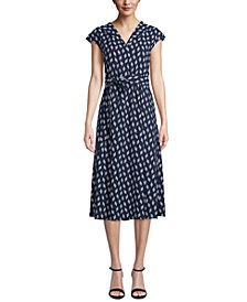 Anne Klein Balanchine Cap-Sleeve Dress
