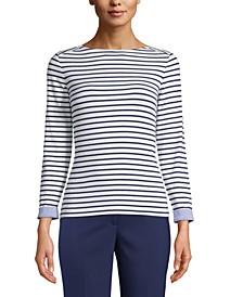 Striped Boat-Neck Top