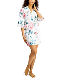 Linea Donatella Floral-Print Wrap Robe