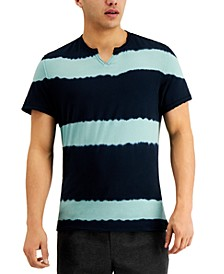 INC Men's Striped Split Neck T-Shirt, Created for Macy's