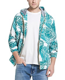 Men's Leaf Print Nylon Jacket