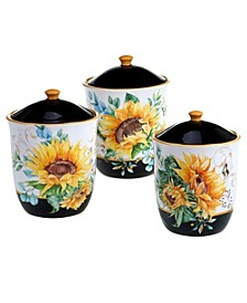 Sunflower Fields 3-Pc. Canister Set