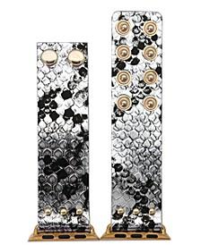 Metallic Snake Snap Button Apple Watch Band