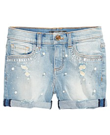 Big Girls Distressed Super Stretch Denim Shorts