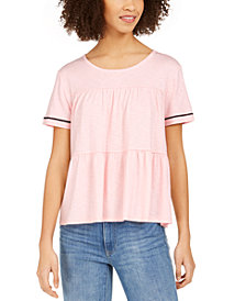 Tommy Hilfiger Tiered Crochet-Trim Top