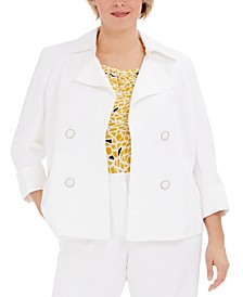 Plus Size Faux-Double-Breasted Jacket