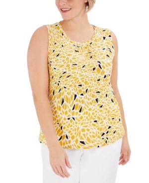 Plus Size Giraffe-Print Sleeveless Top