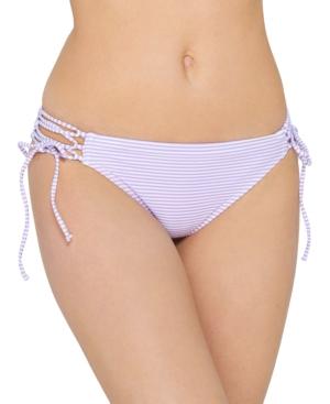 Juniors' Sailor Stripe Tie Hipster Bikini Bottoms