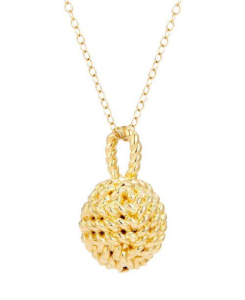 brook & york Parker Knot 14K Gold Pendant