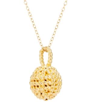 Parker Knot 14K Gold Pendant