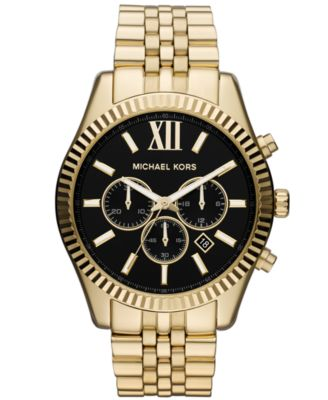 573492e3ac9d Michael Kors Men's Chronograph Lexington Gold-Tone Stainless Steel Bracelet  Watch 45mm MK8286 & Reviews - Watches - Jewelry & Watches - Macy's