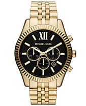 7b50d6cef8 Michael Kors Men s Chronograph Lexington Gold-Tone Stainless Steel Bracelet  Watch 45mm MK8286