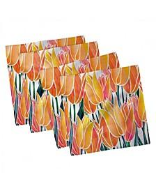 "Tulip Set of 4 Napkins, 12"" x 12"""