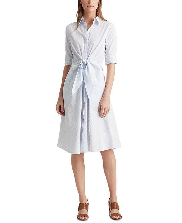 Lauren Ralph Lauren Striped Cotton Shirtdress
