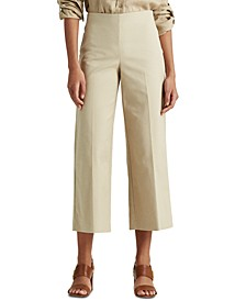 Cotton Wide-Leg Pants