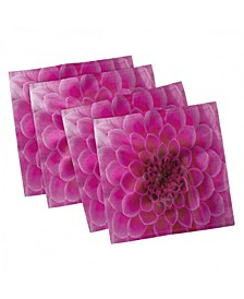 "Floral Set of 4 Napkins, 12"" x 12"""