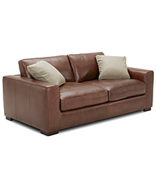 """Chelby 75"""" Leather Apartment Sofa"""