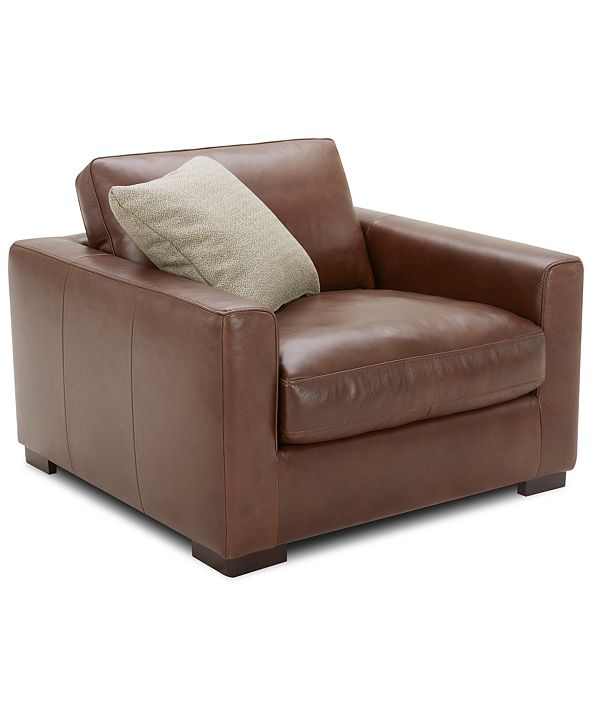 """Furniture Chelby 31"""" Leather Chair"""