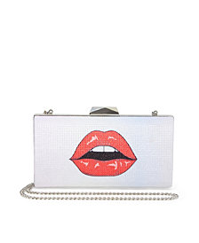 Betsey Johnson See Me Kiss Me Frame Clutch
