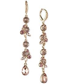 Crystal Cluster Linear Earrings