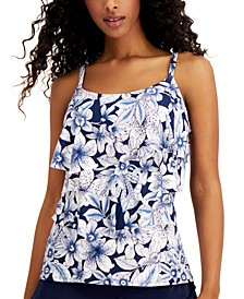 Ruffled Underwire Tankini Top