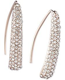 Pavé Sculptural Threader Earrings