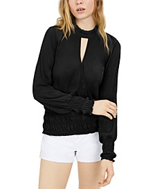 INC High-Neck Cutout Top, Created for Macy's