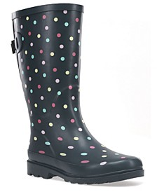 Women's Dot To Dot Wide-Calf Rain boot