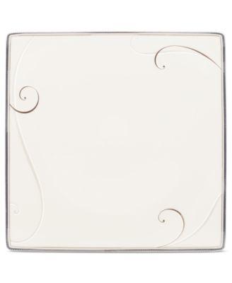 Dinnerware, Platinum Wave Square Dinner Plate