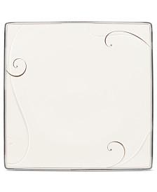 Noritake Dinnerware, Platinum Wave Square Dinner Plate