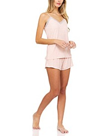 Lace-Trim Cami & Shorts Pajama Set