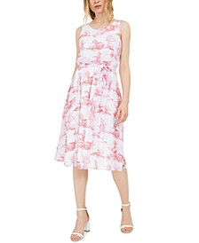 INC Chiffon Toile Midi Dress, Created for Macy's